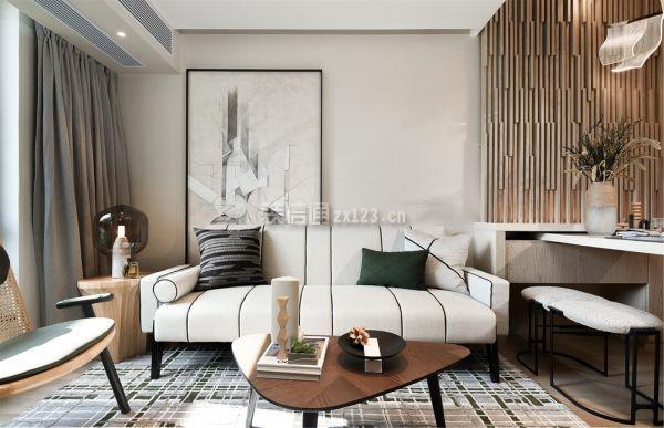 36平米小复式沙发背景墙装修效果图