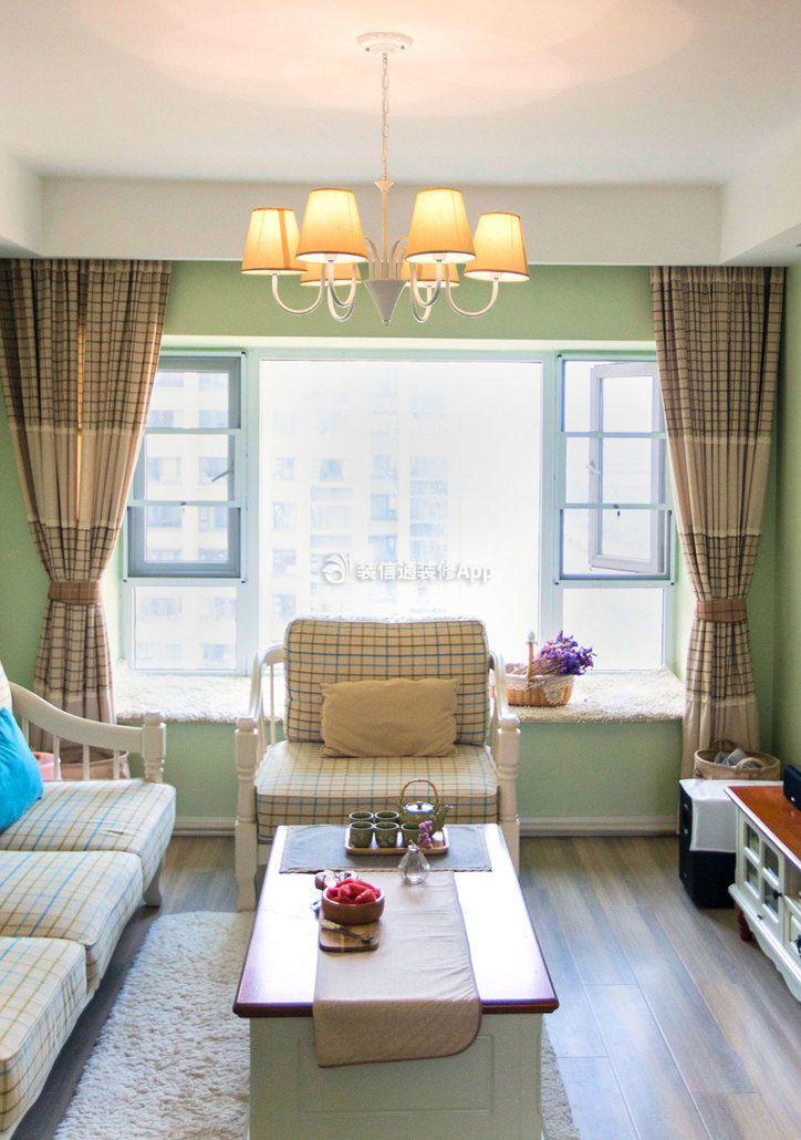 田园风格客厅飘窗装修设计图片大全