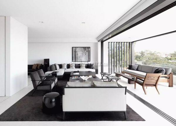 黑白别墅客厅设计