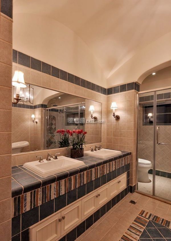 别墅洗手池设计