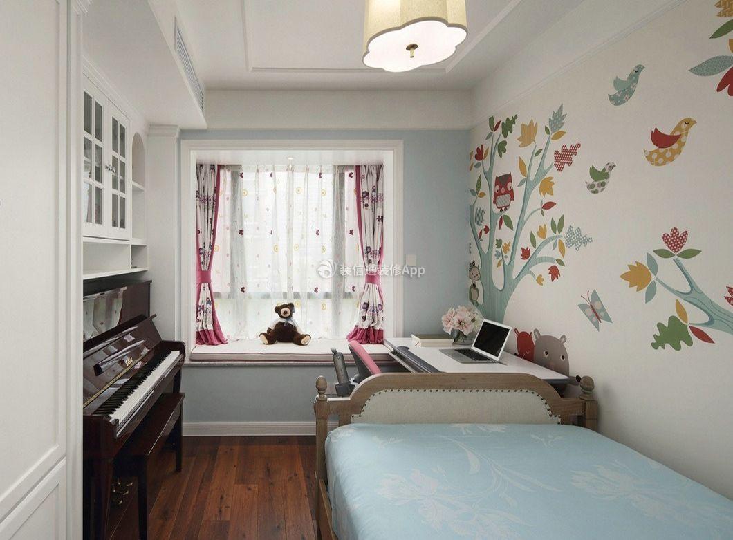 三室一厅一卫90平美式儿童房装修图大全