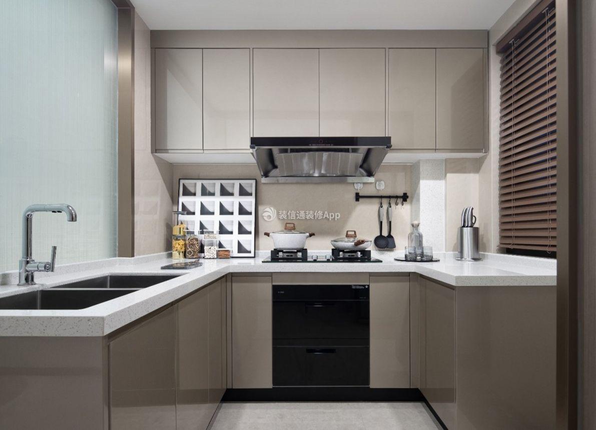 100平米三室一厅厨房现代简约装修图大全