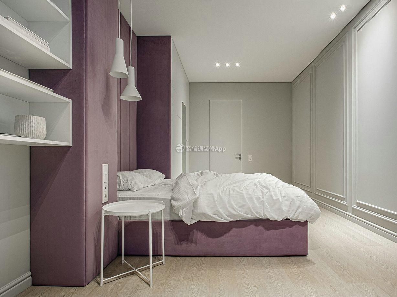 100平米三室一厅卧室背景墙装修设计图展示