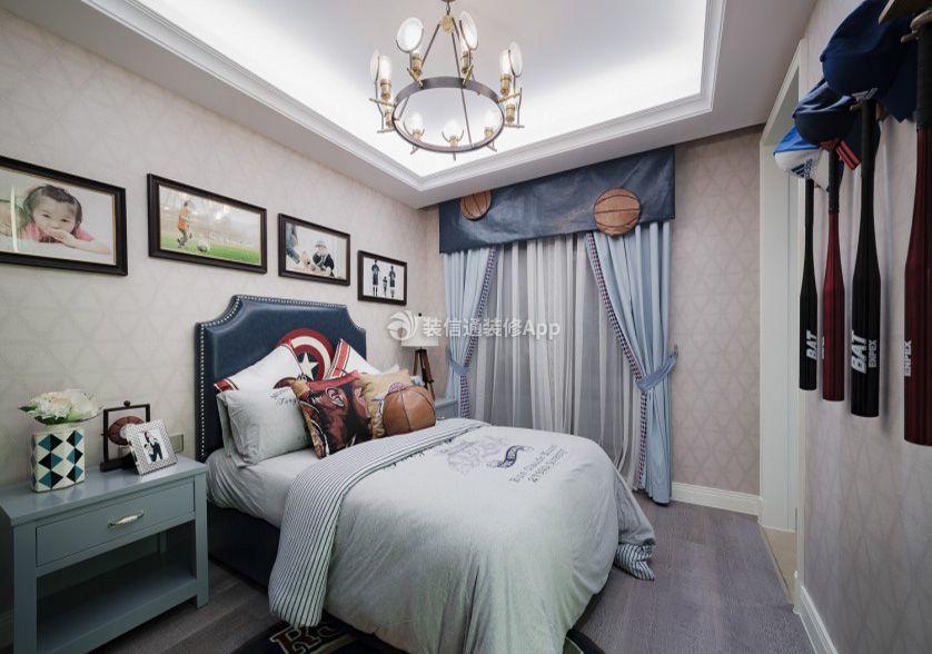 现代美式风格家庭儿童房装修效果图欣赏