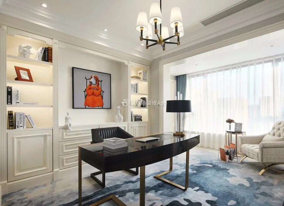 现代美式风格别墅书房装修效果图片一览