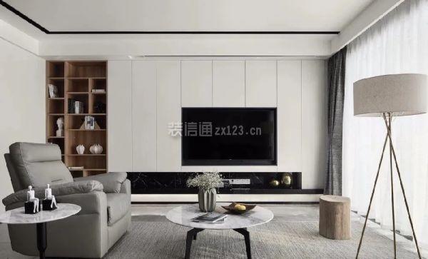 嵌入式电视墙装修效果图